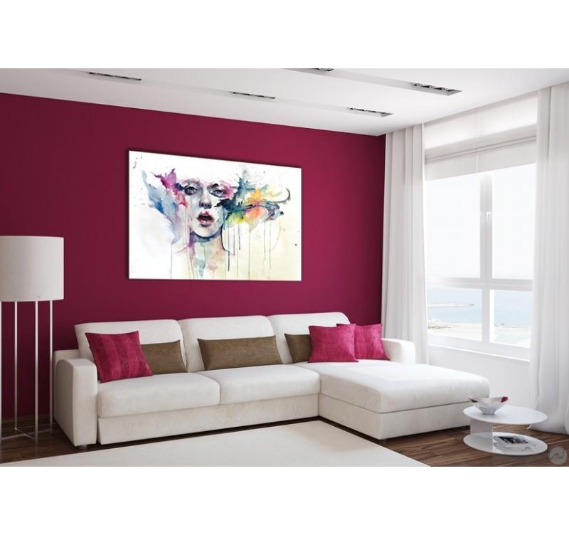 Tableau femme abstrait en couleur artwall and co for Deco murale new york couleur