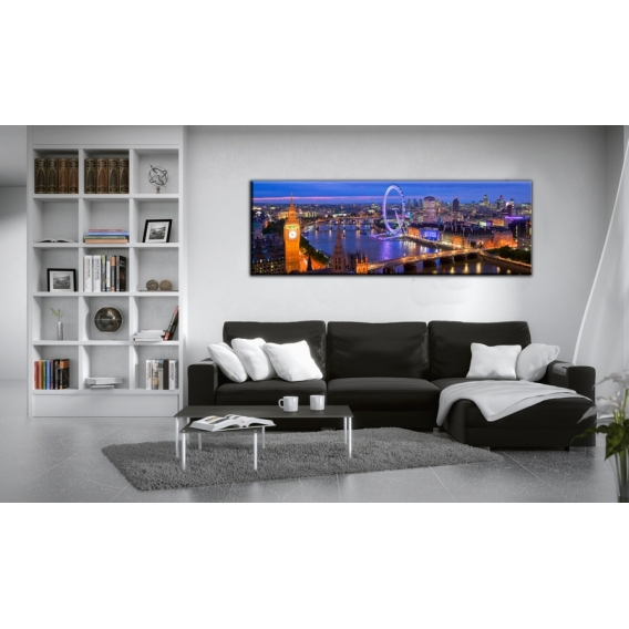 London by Night Landscape Art Print