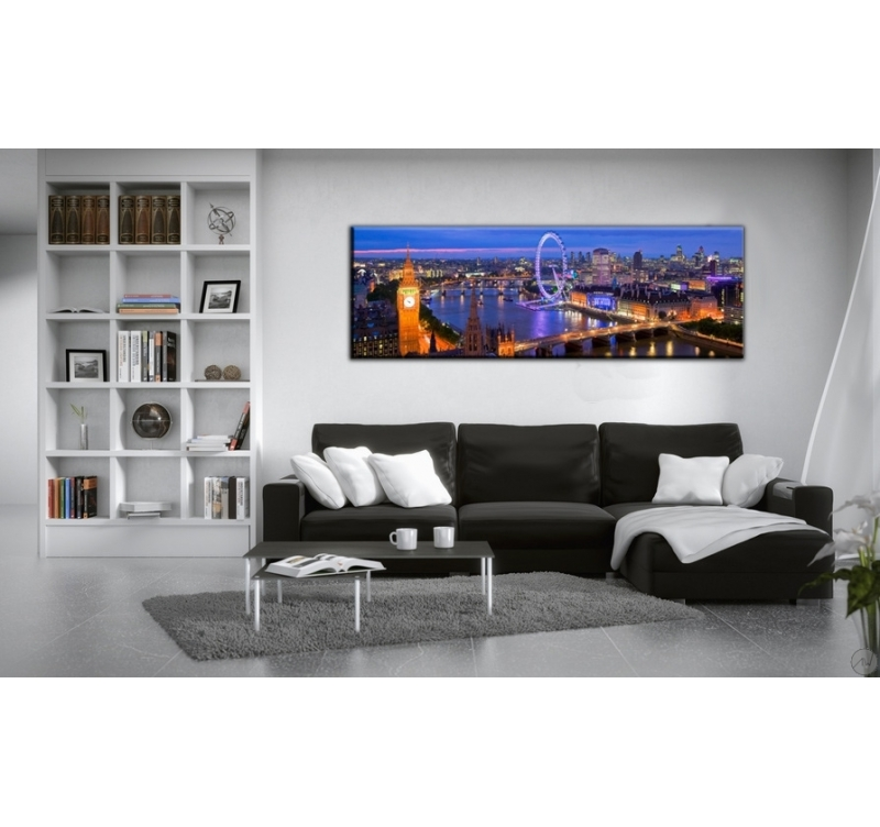 tableau paysage de londres by night artwall and co. Black Bedroom Furniture Sets. Home Design Ideas