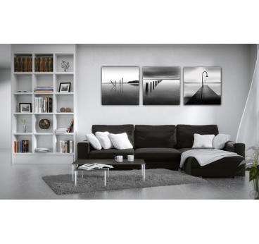 Océan Noir et Blanc Triptyque Design