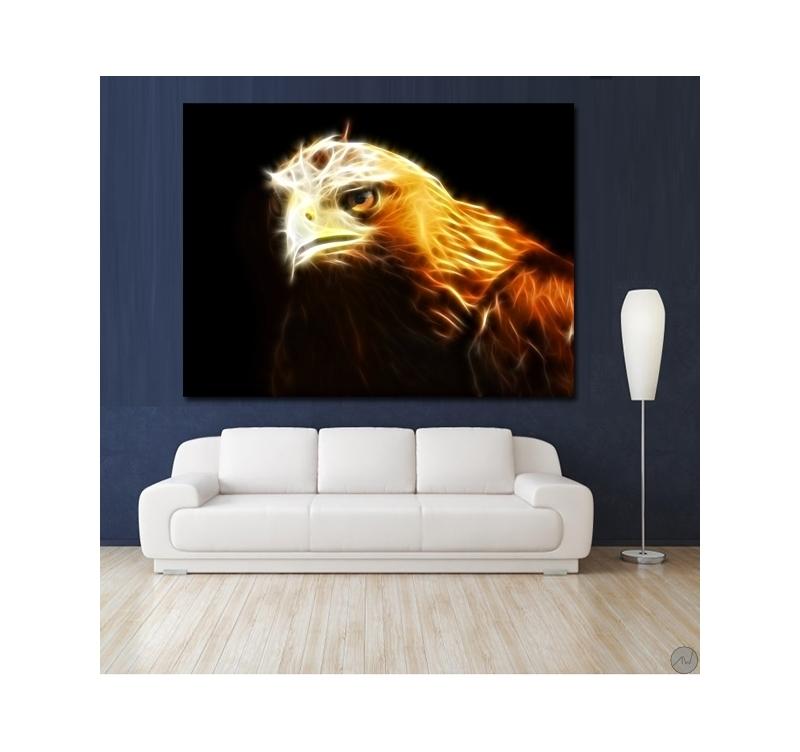 Royal eagle animal art print artwall and co for Poster contemporain