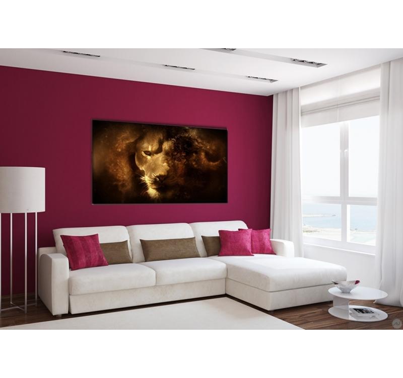dark lion tableau design artwall and co. Black Bedroom Furniture Sets. Home Design Ideas
