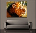Lion's Aura Wall Art Print