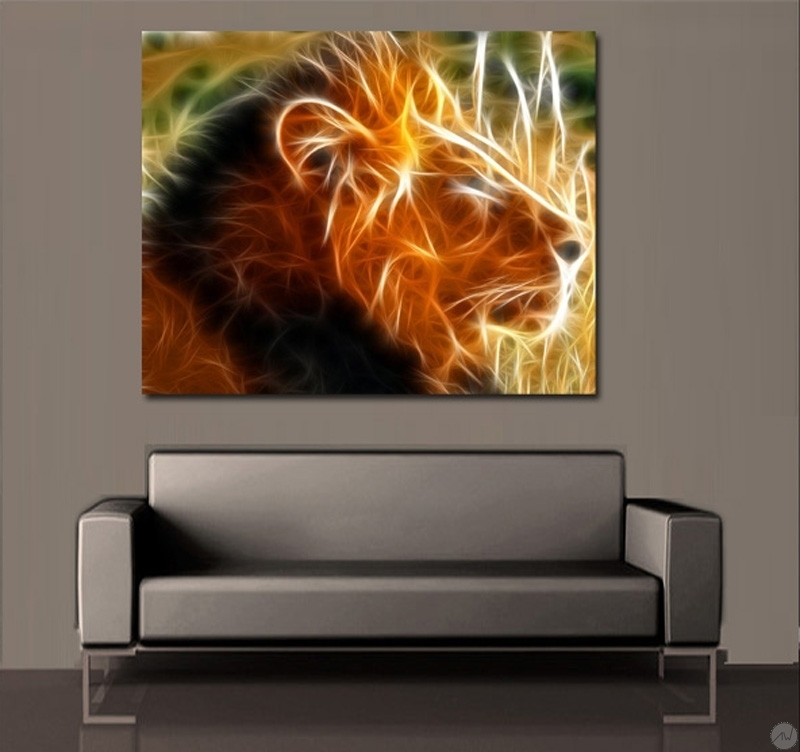 l 39 aura du lion tableau mural artwall and co. Black Bedroom Furniture Sets. Home Design Ideas