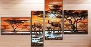 Tableau peinture africain : Une touche ethnique et orientale en toile peinture