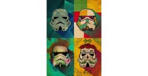 Poster Mural Metal Stormtrooper