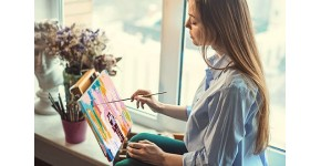 Adult Paintings by numbers : Creative Arts and Decorative DIY Paintings