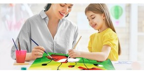 Painting by numbers for children : Creative arts and DIY painting