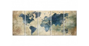 Printed canvas of the world maps: Wall decorations for travelers