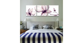 Flower canvas print : Modern and natural wall decoration
