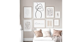 Line art canvas prints : Minimalist wall decoration with line art style