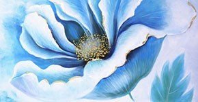 Flower painting : Oil paintings on canvas of flowers