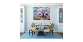 Elephant canvas print : Elephant wall decoration in exotic style
