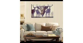 Tableau imprimé de cerf : Décoration murale de cerf au style scandinave