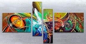 Tableau abstrait peinture abstraite artwall and co for Tableau geometrique pastel