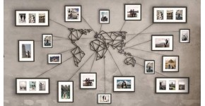 World map wall decoration : world maps and planisphere in modern style