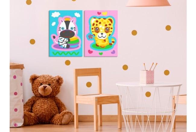 Tableau à peindre pour enfants afin de créer une déco murale originale