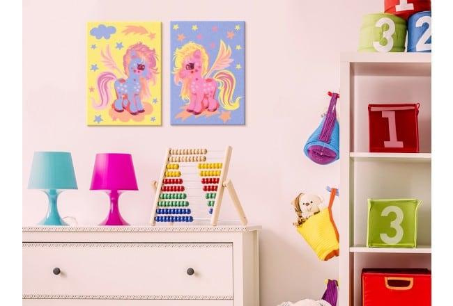 Tableau à peindre pour enfant de licornes pour leur chambre