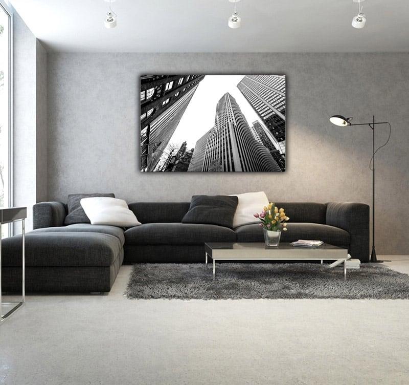 Environnement design avec notre tableau aluminium ciel New Yorkais