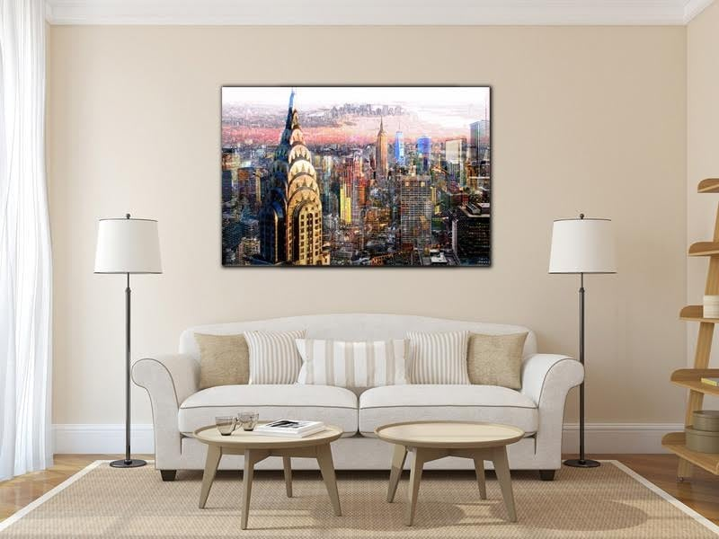 Buildings of New York on a luxury frame to illuminate your interior decoration with a contemporary picture