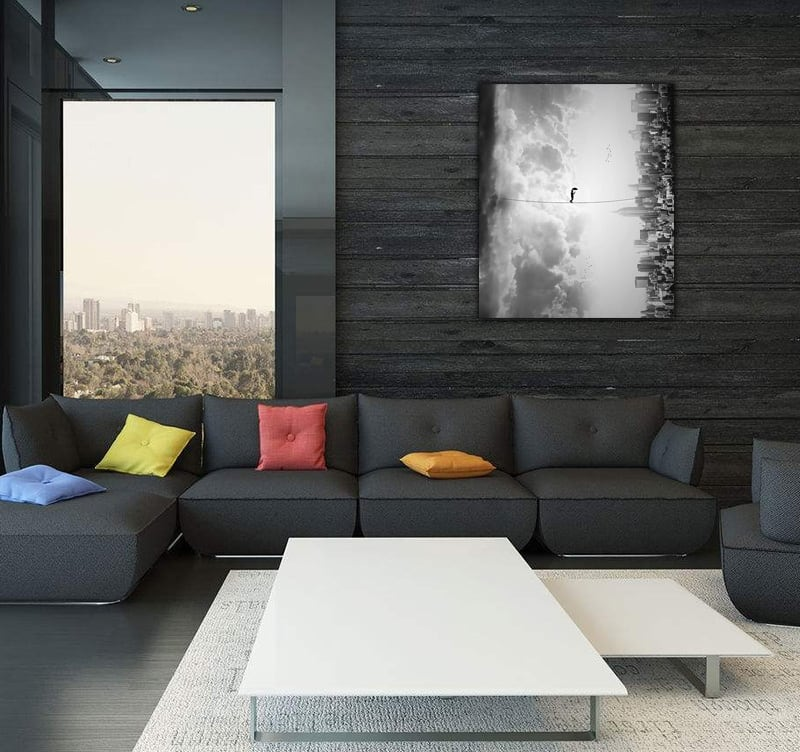 Art photo on aluminium to decorate your home with a design style and abstract touch