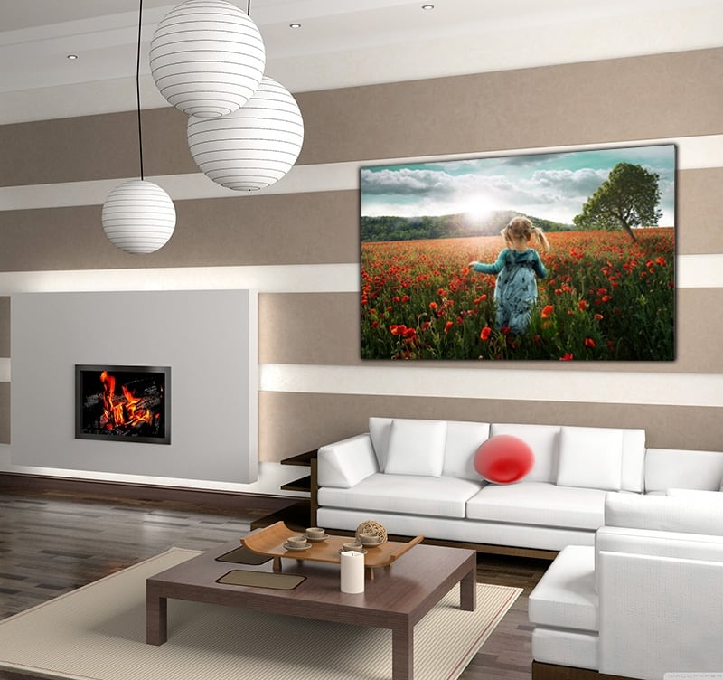 Nature Art photo on aluminium for a modern wall decoration