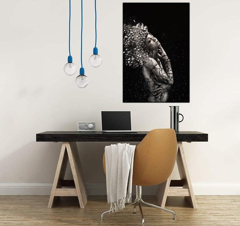 photo abstraite femme en clat artwall and co. Black Bedroom Furniture Sets. Home Design Ideas