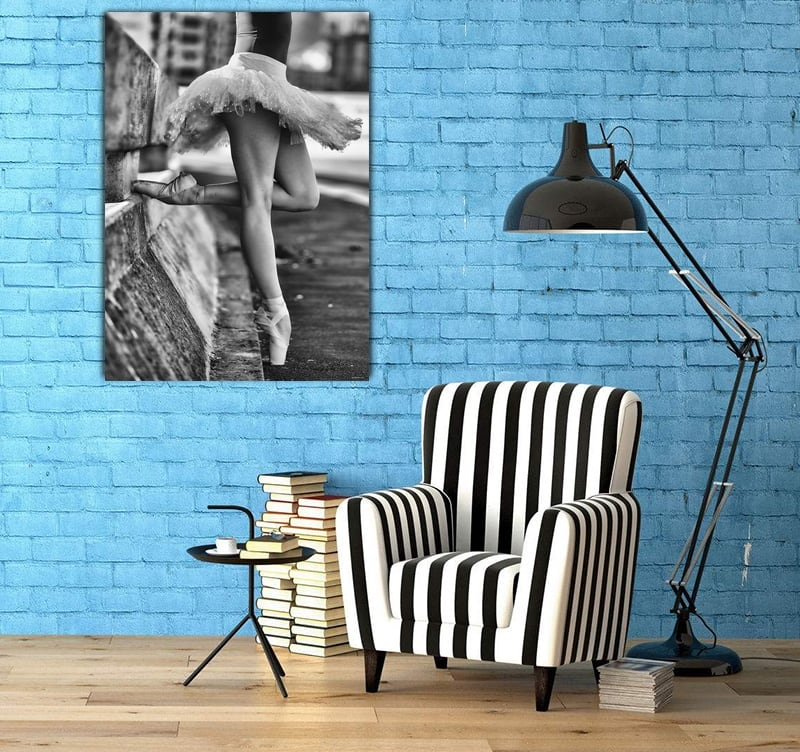 Design art photo of ballerina for wall art decoration