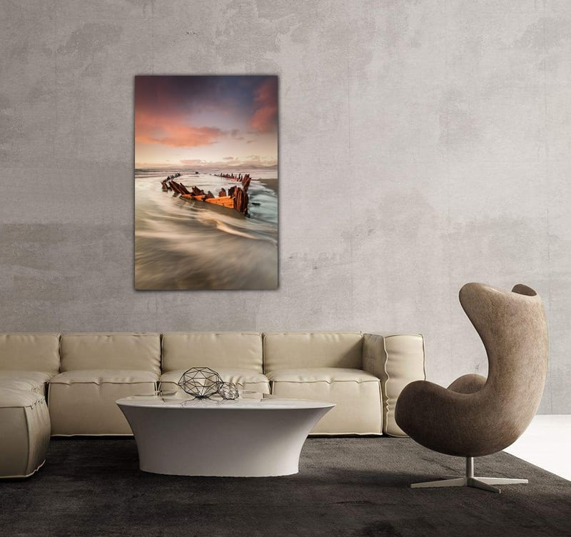 Art photo of a shipwreck for a design wall decoration in your bedroom or kitchen