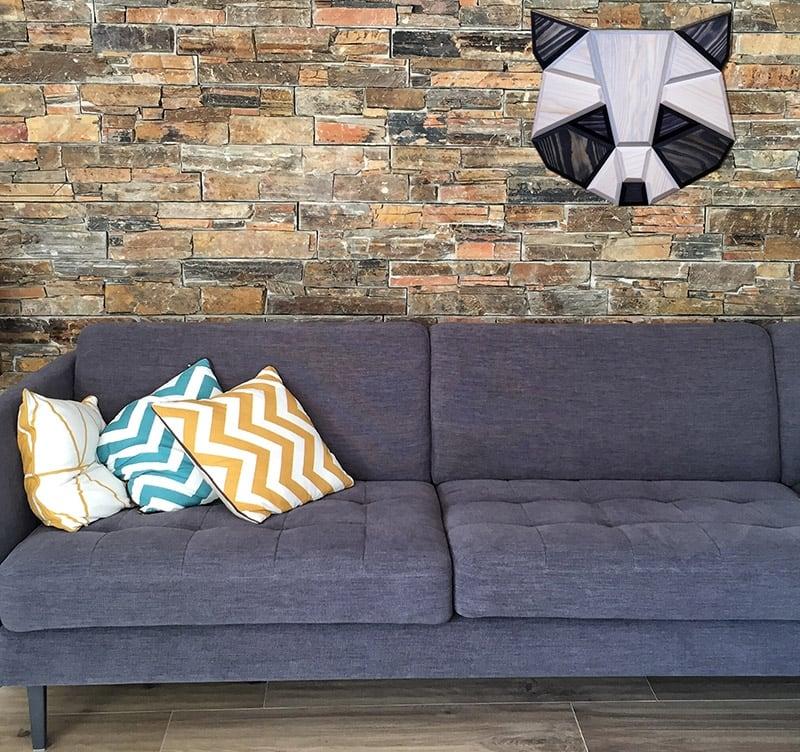 d coration murale bois raton laveur artwall and co. Black Bedroom Furniture Sets. Home Design Ideas