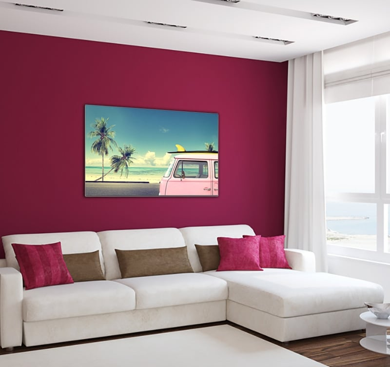 Deco canvas of a beach surf to create a zen and nature decoration in your room