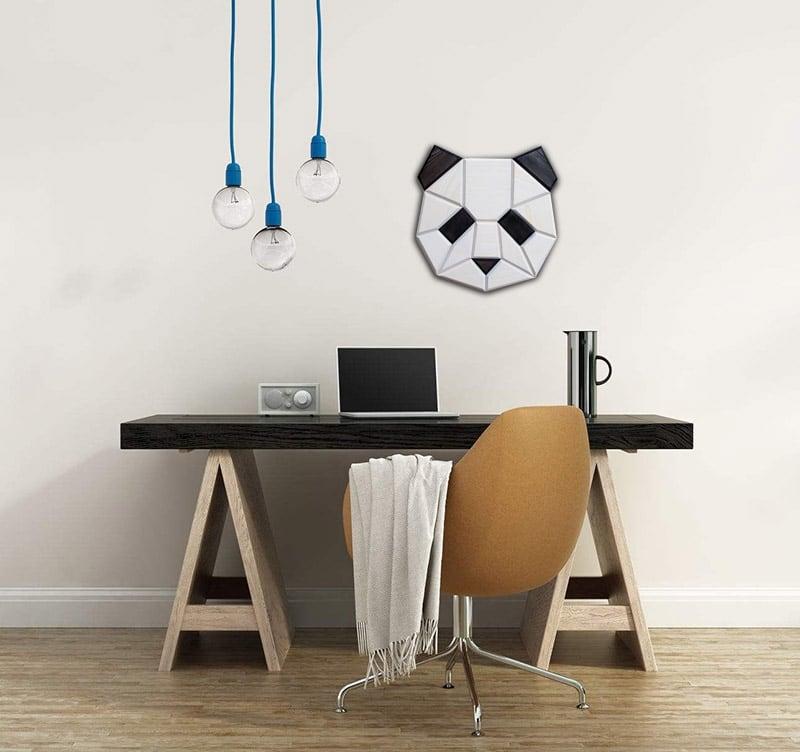 Tête déco de panda pour une décoration murale moderne