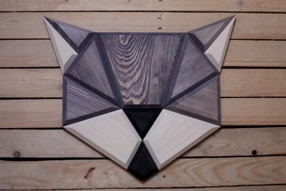 Wood wall decoration of a design cat for a nature interior