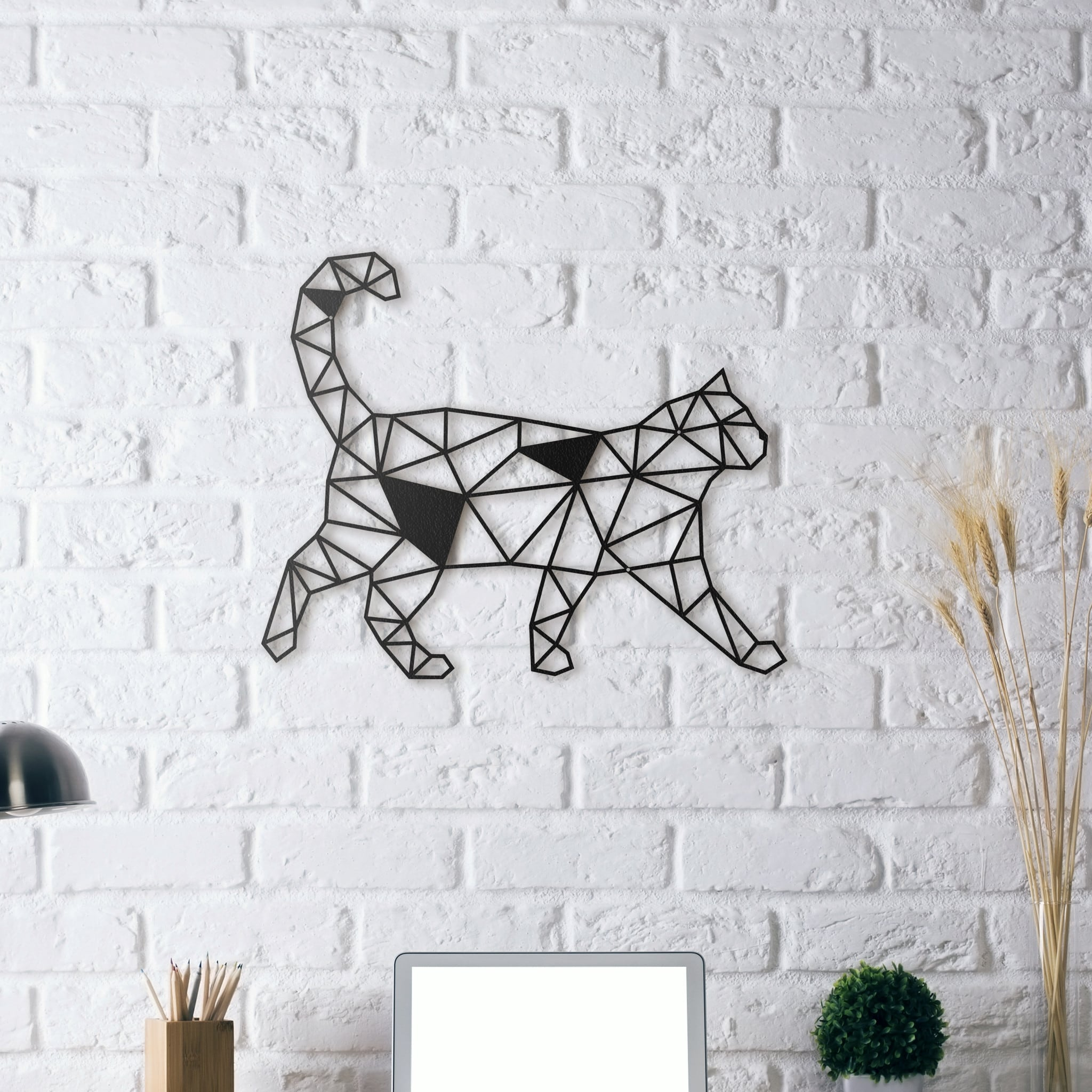 Design wall decoration cat artwall and co for Decoration murale acier