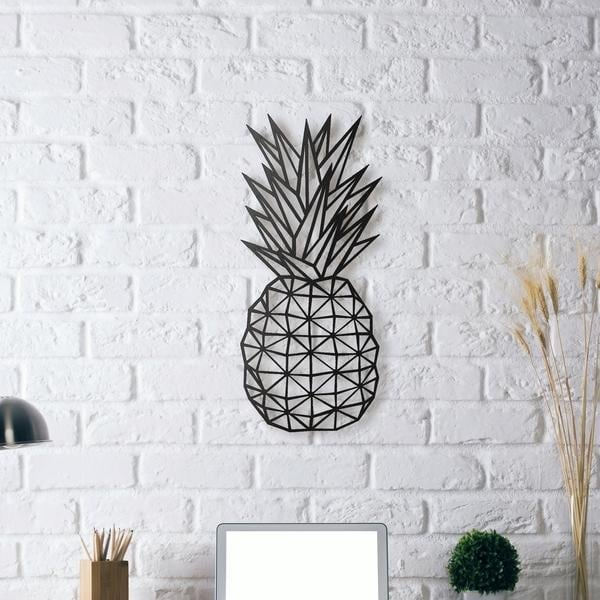 Pineapple metal wall decoration for a beautiful interior and a design room