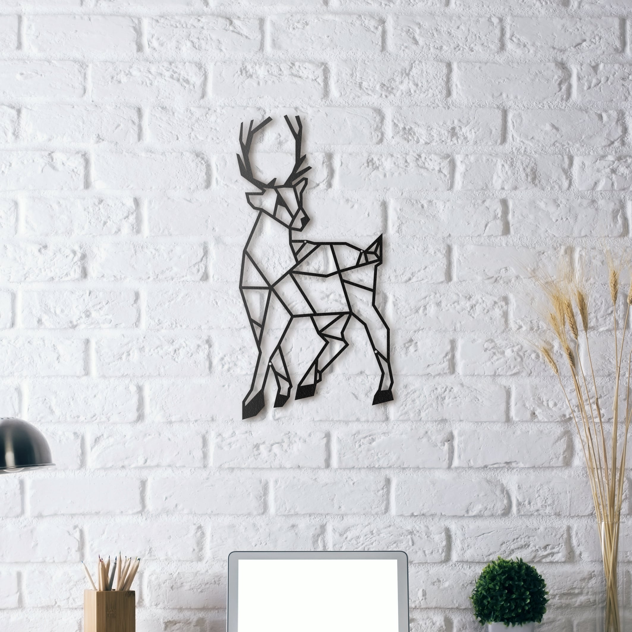 Deer metal wall decoration for a nature interior