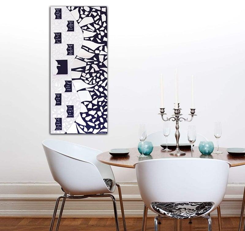 Tableau peinture design miroir de la collection HauteBrune