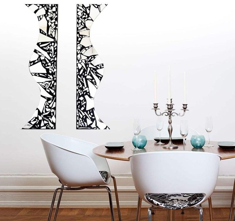 Toile peinture miroir abstrait de l'artiste HauteBrune pour un intérieur déco