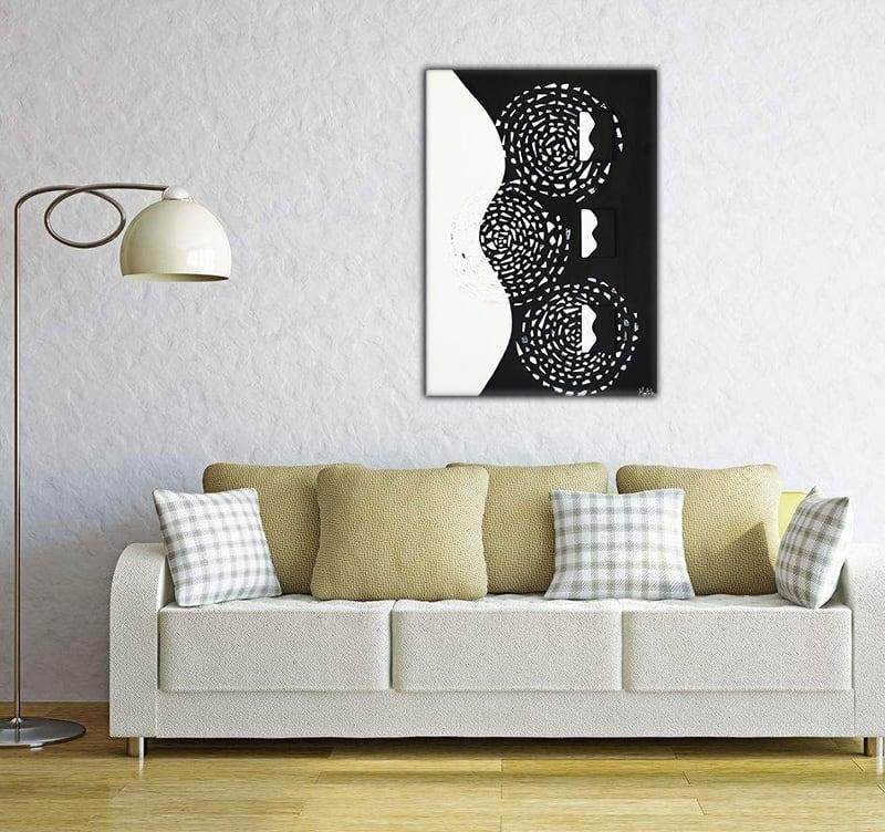 Toile peinture moderne abstrait de notre artiste HauteBrune pour un intérieur lumineux