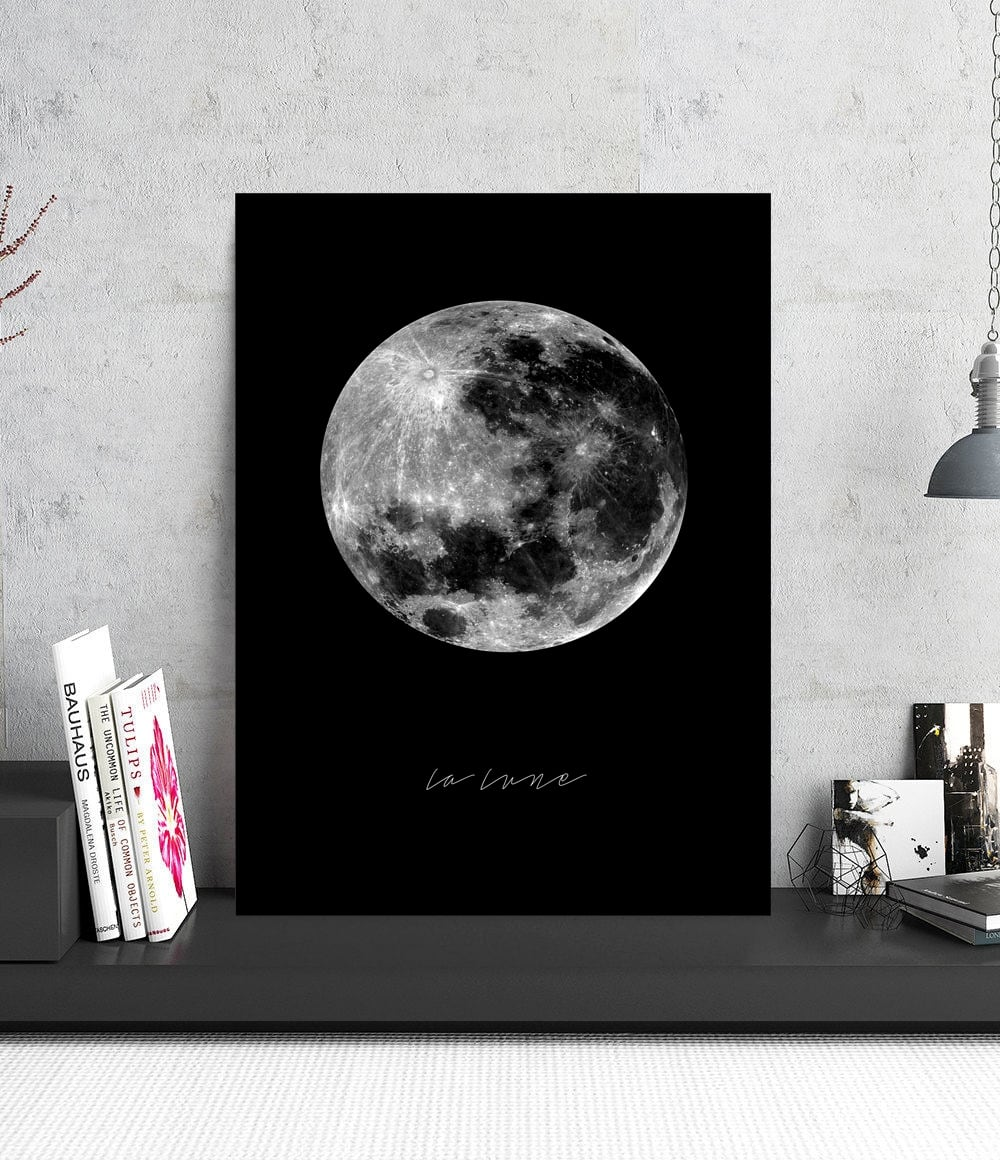 Dark moon aluminium design wall decoration for a beautiful interior