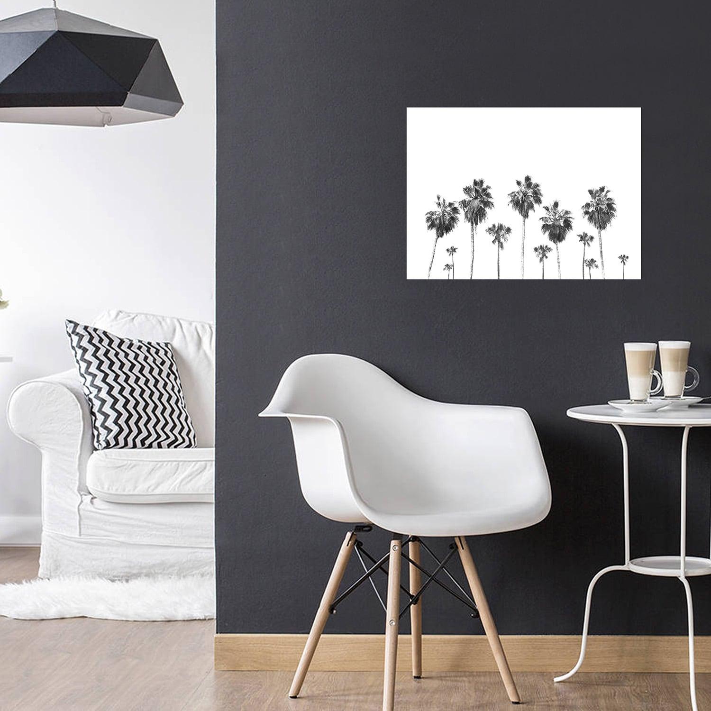 Tableau photo aluminium rangée de palmier pour une décoration intérieure unique