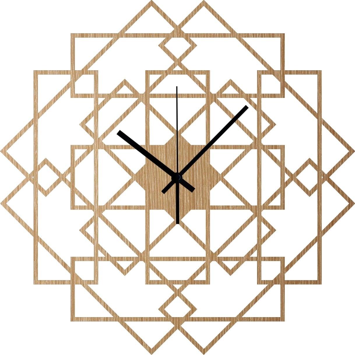 Horloge murale bois square pour une touche nature dans votre intérieur