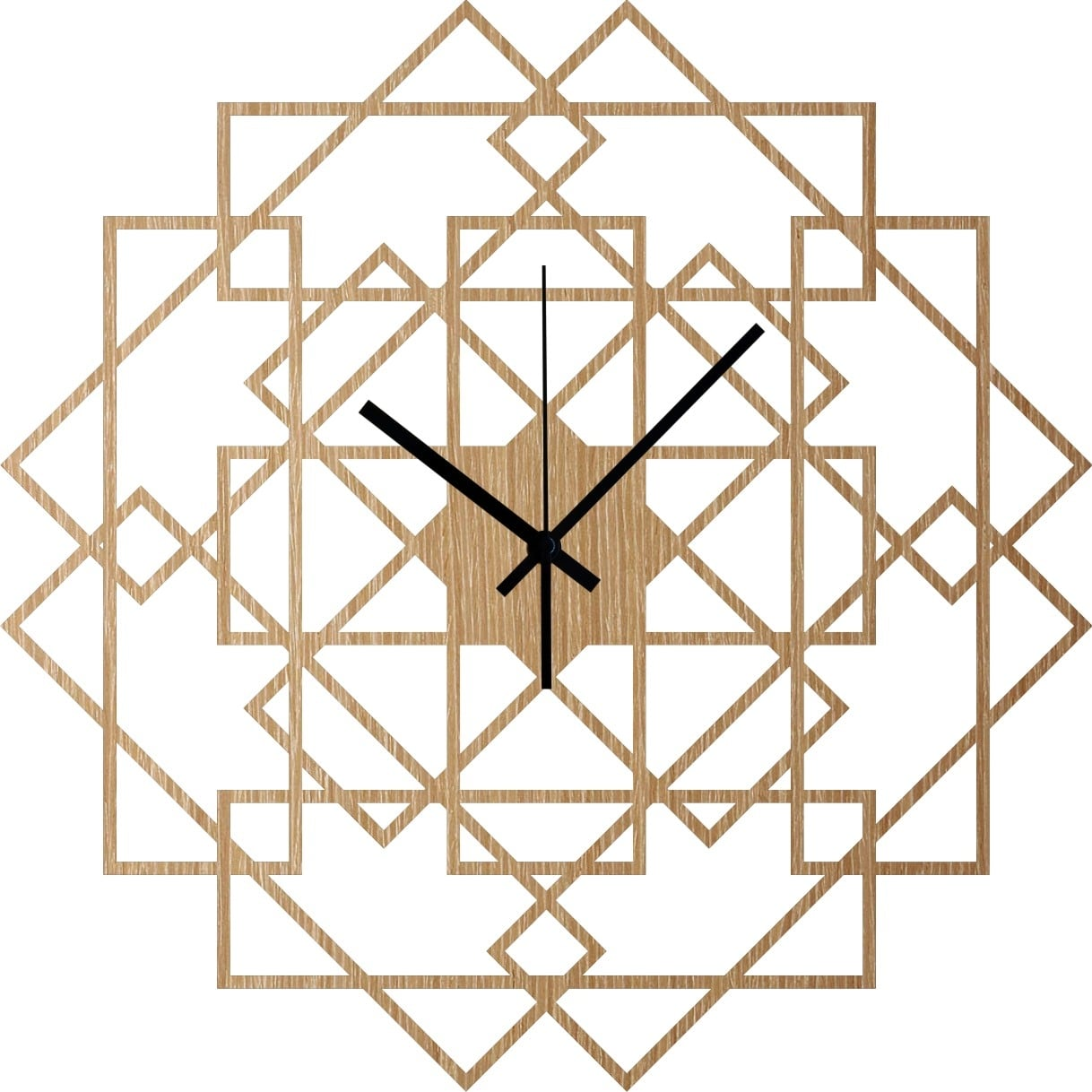 Interior wall clock with wood for a trendy decoration