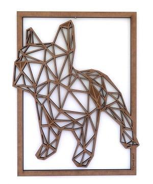 Décoration Murale bois bulldog pour une touche tendance