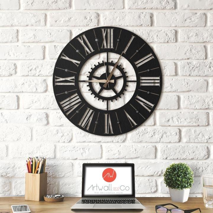 Horloge mural métal europe pour une décoration industrielle
