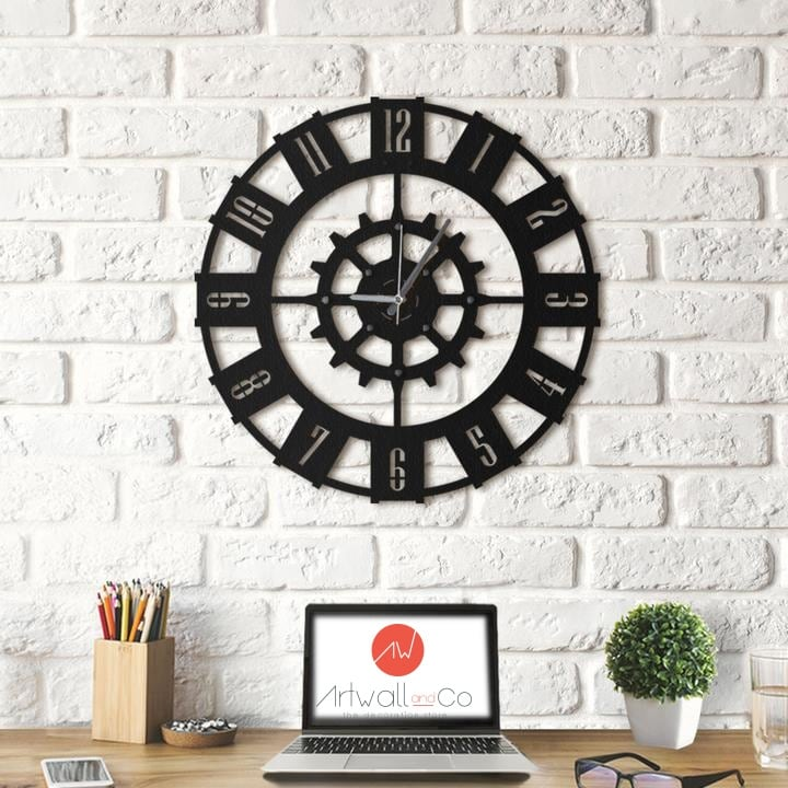 Modern metal wall clock for a unique interior