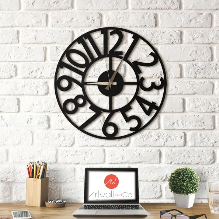 Circle metal wall clock for wall decoration