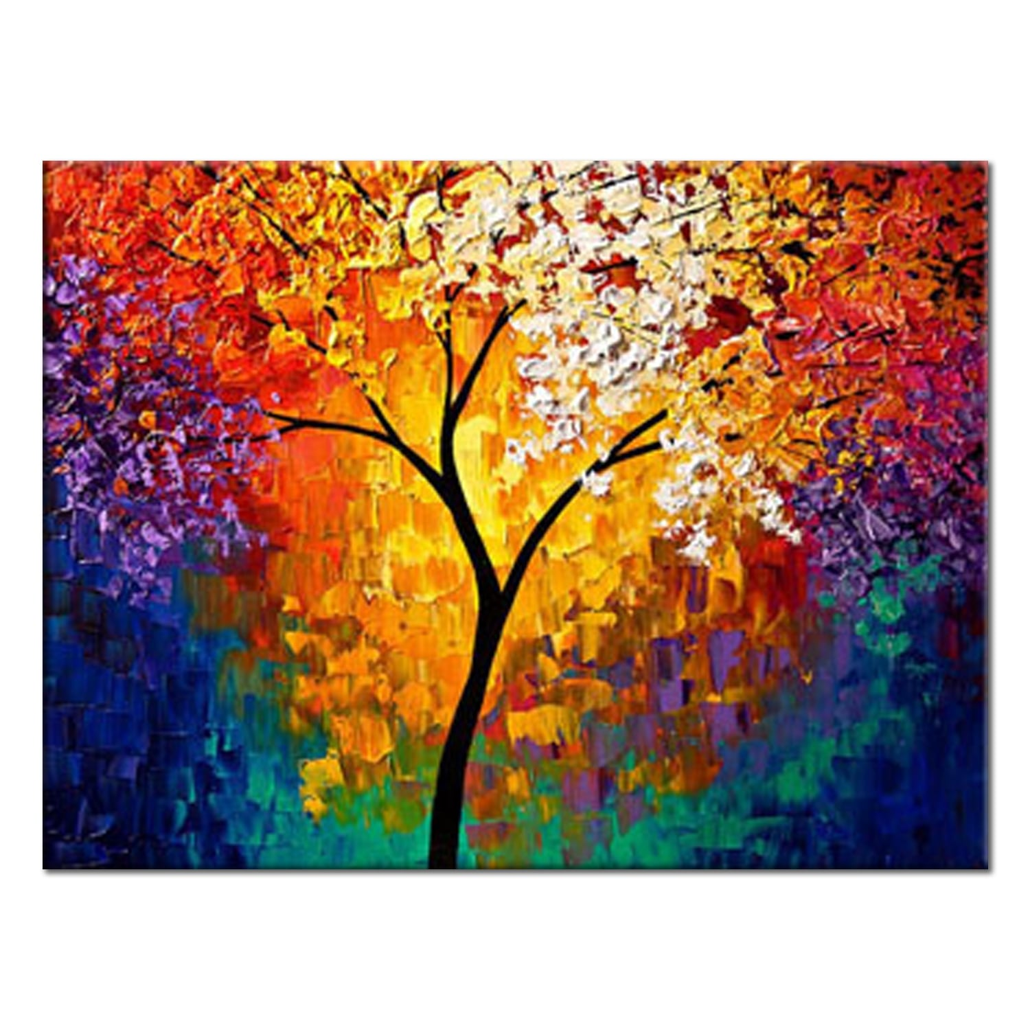 Natural tree oil painting for a unique wall decoration