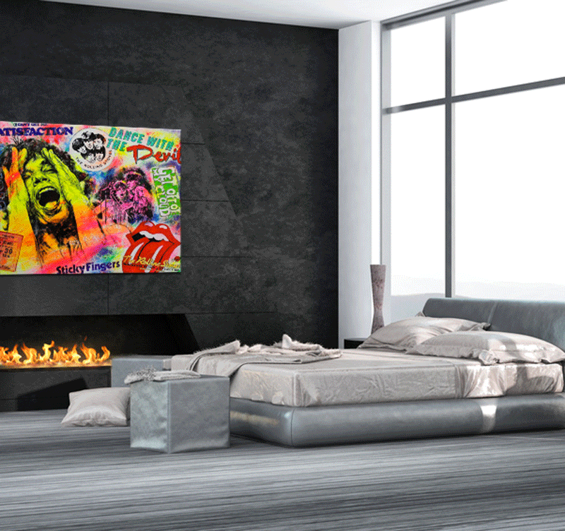 The Rolling Stones pop art canvas
