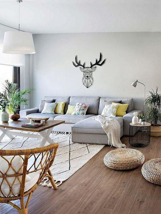 Décoration murale moderne de salon avec nos sculptures design et tableaux déco Artwall and Co